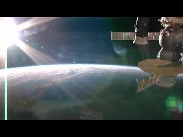 Sunset over the Earth from ISS
